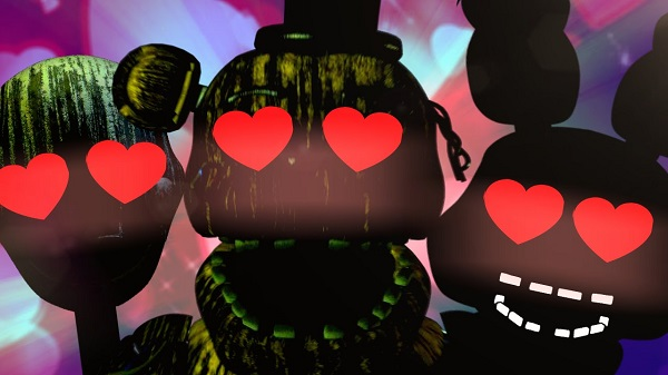 Five Nights Of Love and three animatronic being in love