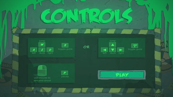 Freddy Fazbear controls menu