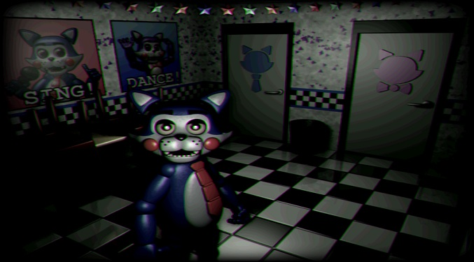 Five nights at candy's scary cat animatronic at the camera