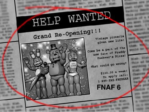 Fnaf 6 grand re opening