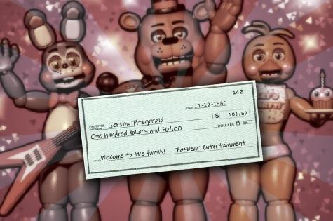 Fnaf 6 paycheck